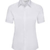 Ladies Short Sleeve Ultimate Stretch Shirt Russel - white
