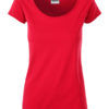 Ladies T James & Nicholson - red