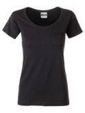 Ladies T Pocket James & Nicholson - black