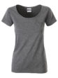 Ladies T Pocket James & Nicholson - black heather