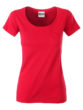 Ladies T Pocket James & Nicholson - red
