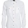 Ladies Traditional Shirt Plain James & Nicholson - white