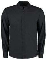 Mens Bar Shirt Mandarin Collar Long Sleeve Bargear