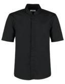 Mens Bar Shirt Mandarin Collar Short Sleeve Bargear