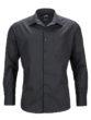 Mens Business Shirt Long Sleeved James & Nicholson - black