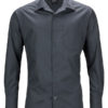 Mens Business Shirt Long Sleeved James & Nicholson - carbon