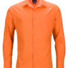 Mens Business Shirt Long Sleeved James & Nicholson - orange