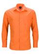 Mens Business Shirt Long Sleeved James & Nicholson - orange
