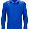 Mens Business Shirt Long Sleeved James & Nicholson - royal