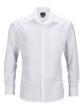 Mens Business Shirt Long Sleeved James & Nicholson - white