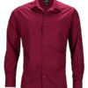 Mens Business Shirt Long Sleeved James & Nicholson - wine
