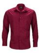 Mens Business Shirt Long Sleeved James & Nicholson - wine