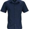 Mens Business Shirt Short Sleeved James & Nicholson - navy