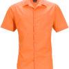 Mens Business Shirt Short Sleeved James & Nicholson - orange