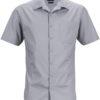 Mens Business Shirt Short Sleeved James & Nicholson - steel