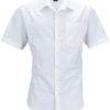 Mens Business Shirt Short Sleeved James & Nicholson - white