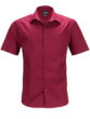 Mens Business Shirt Short Sleeved James & Nicholson - wine