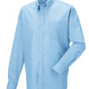 Mens Long Sleeve Oxford Shirt Russel - oxford blue