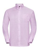 Mens Long Sleeve Oxford Shirt Russel - pink