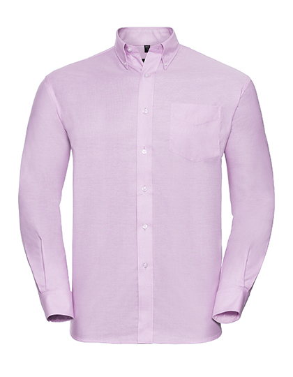Mens Long Sleeve Oxford Shirt Russel - pink