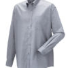 Mens Long Sleeve Oxford Shirt Russel - silver