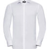 Mens Long Sleeve Ultimate Stretch Shirt Russel - white