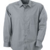 Mens Shirt Classic Fit Long James & Nicholson - grey