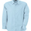 Mens Shirt Classic Fit Long James & Nicholson - light blue