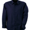 Mens Shirt Classic Fit Long James & Nicholson - navy