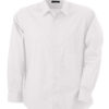 Mens Shirt Classic Fit Long James & Nicholson - white