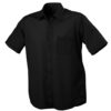 Mens Shirt Classic Fit Short James & Nicholson - black