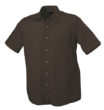 Mens Shirt Classic Fit Short James & Nicholson - brown