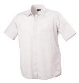 Mens Shirt Classic Fit Short James & Nicholson - white