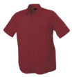 Mens Shirt Classic Fit Short James & Nicholson - wine