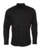 Mens Shirt Longsleeve Oxford James & Nicholson - black