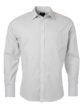 Mens Shirt Longsleeve Oxford James & Nicholson - silver