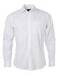 Mens Shirt Longsleeve Oxford James & Nicholson - white