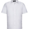 Mens Short Sleeve Fitted Shirt Russel - white
