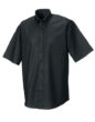 Mens Short Sleeve Oxford Shirt Russel - black