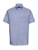 Mens Short Sleeve Oxford Shirt Russel - oxford blue