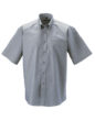 Mens Short Sleeve Oxford Shirt Russel - silver