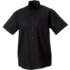 Mens Short Sleeve Ultimate Non Iron Shirt Russell - black
