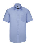 Mens Short Sleeve Ultimate Non Iron Shirt Russell - bright sky