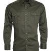 Mens Traditional Shirt Plain James & Nicholson - olive