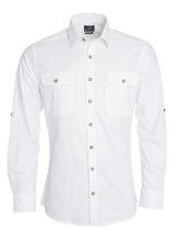 Mens Traditional Shirt Plain James & Nicholson - white