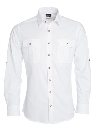 Mens Traditional Shirt Plain James & Nicholson - white