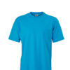 Basic T Shirt James & Nicholson - turquoise