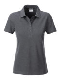 Ladies Basic Polo James & Nicholson - black heather