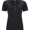 Ladies Pima Polo James & Nicholson - black
