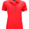 Ladies Pima Polo James & Nicholson - light red